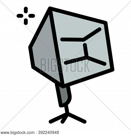 Tripod Camera Light Icon. Outline Tripod Camera Light Vector Icon For Web Design Isolated On White B