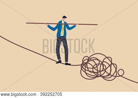 Leadership Skill To Lead Company In Crisis Situation, Manage To Solve Risky Problem Concept, Confide