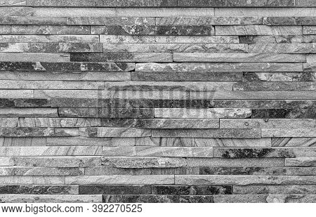 Stone Gray Wall As An Abstract Background.