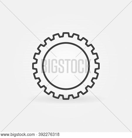 Gear Or Cog Linear Vector Concept Icon Or Logo Element