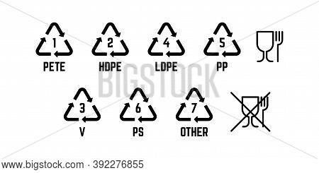 Resin Identification Code. Food Grade Plastic Sign