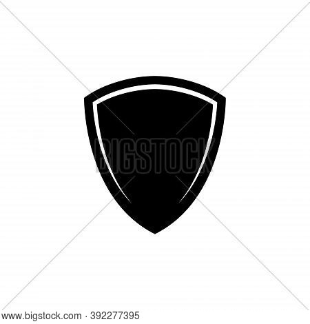 Shield Icon. Template Flat Illustration. Shielding Symbol In Black And White Color. Security And Pro
