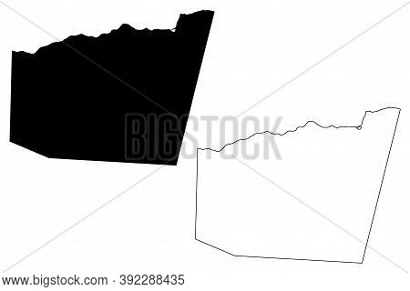 Gagaifomauga District, Savaii Island (independent State Of Samoa, Western Samoa) Map Vector Illustra