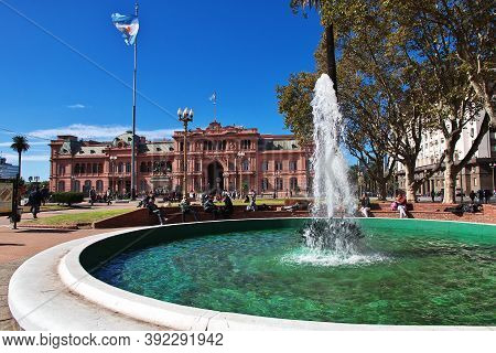 Buenos Aires, Argentina - 03 May 2016: The Park In Buenos Aires, Argentina