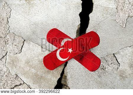 3d Rendering Idea For Devastating Earthquake In Turkey.