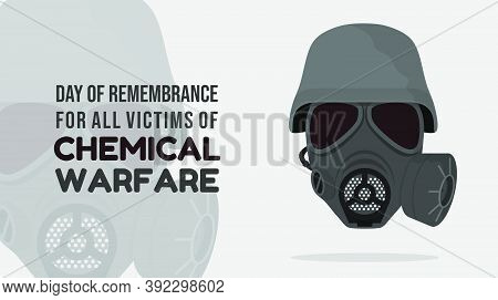 Day Of Remembrance For All Victims Of Chemical Warfare Design With Gas Mask Using A Helmet Vector Il