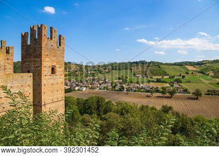 The Castle Of The Medieval Town Of Castell'arquato, Piacenza Province, Emilia Romagna, Italy.