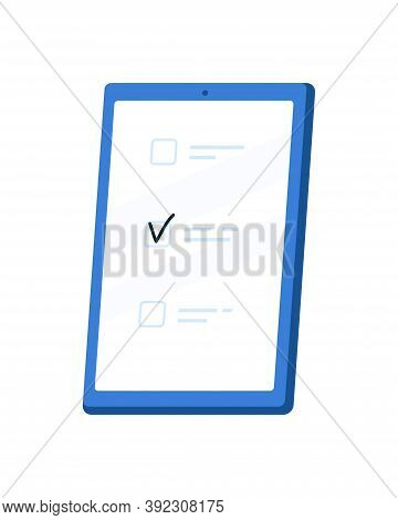 Checklist, Todo Check List, Application Interface, Business Organizer. Check Marks, Ticks On Mobile