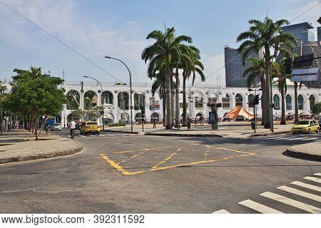 Rio De Janeiro, Brazil - 07 May 2016: Carioca Aqueduct In Rio De Janeiro, Brazil