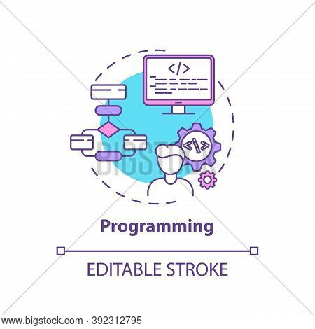 Programming Concept Icon. Careers In It For Creative Thinkers. Software Developer Job. Codding Innov