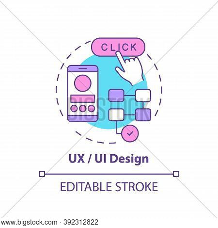 Ux And Ui Design Concept Icon. Careers In It For Creative Thinkers. Creating Convinient Website For
