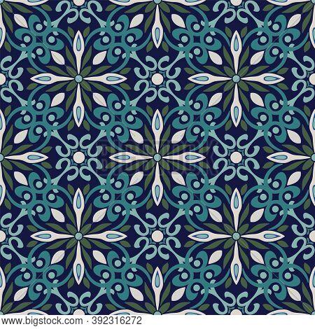 Vector Ornamental Intricate Geometric Seamless Pattern Background.