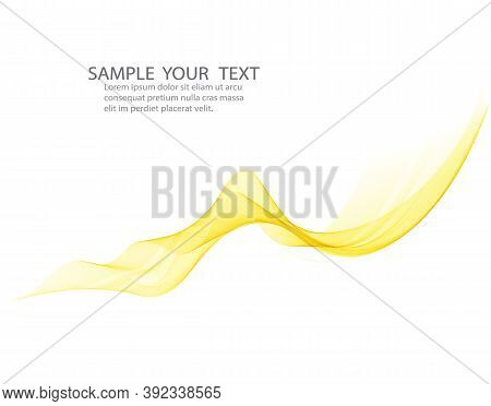 Abstract Orange Color Wave Design Element. Abstract Smooth Color Wavy Vector. Curve Flow Orange Moti
