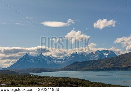 View Over The Serrano River In Torres Del Paine National Park, Chile