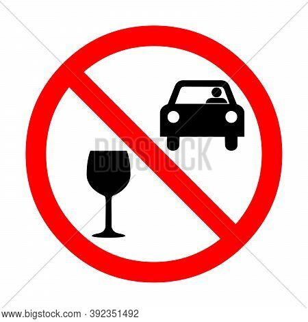 Do Not Drink And Drive Sign Illustration