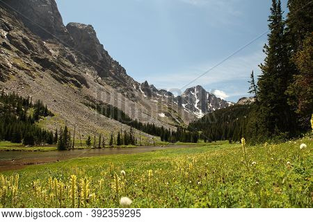 Whitetail Peak Above West Fork Rock Creek In Beartooth Mountains, Montana