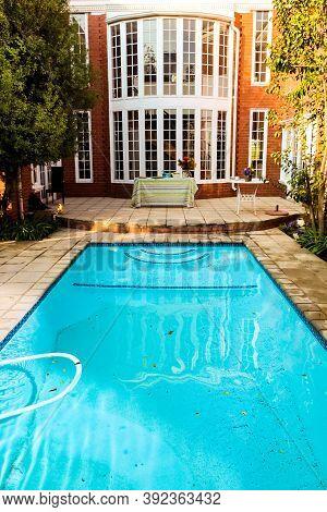 Swimming Pool In A Upmarket Wealthy Suburban Neighborhood