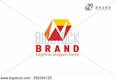 Letter N Box Logo. Box With Letter N Design Concept On Negative Space, Modern Simple And Creative Lo