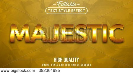 Editable Text Style Effect - Majestic Theme Style. Graphic Design Element.