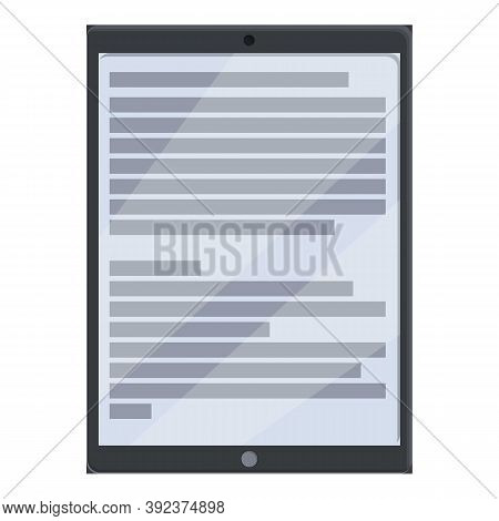 Ebook Icon. Cartoon Of Ebook Vector Icon For Web Design Isolated On White Background