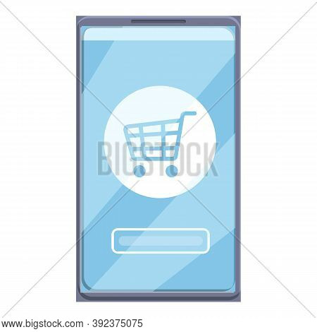 Checkout Online Shopping Icon. Cartoon Of Checkout Online Shopping Vector Icon For Web Design Isolat