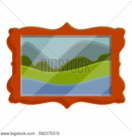Auction Wall Picture Icon. Cartoon Of Auction Wall Picture Vector Icon For Web Design Isolated On Wh