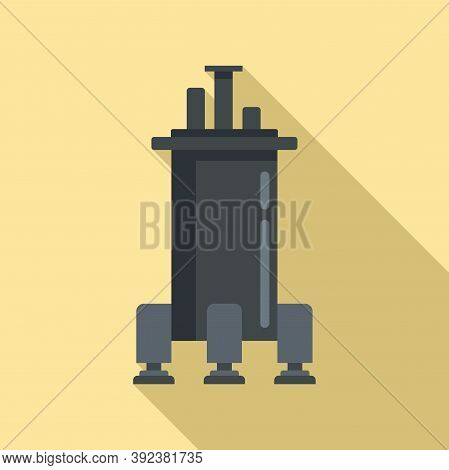Space Ship Gravity Icon. Flat Illustration Of Space Ship Gravity Vector Icon For Web Design