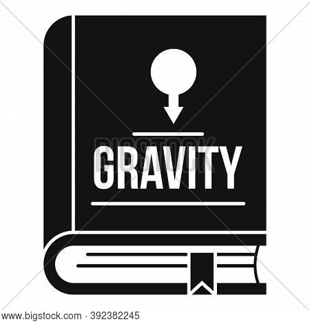 Gravity Book Icon. Simple Illustration Of Gravity Book Vector Icon For Web Design Isolated On White