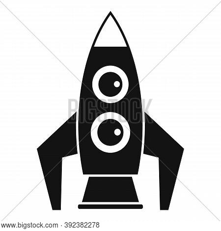 Space Rocket Gravity Icon. Simple Illustration Of Space Rocket Gravity Vector Icon For Web Design Is