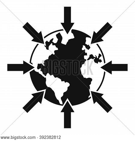 Earth Gravity Icon. Simple Illustration Of Earth Gravity Vector Icon For Web Design Isolated On Whit