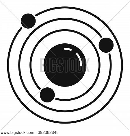 Atom Gravity Icon. Simple Illustration Of Atom Gravity Vector Icon For Web Design Isolated On White