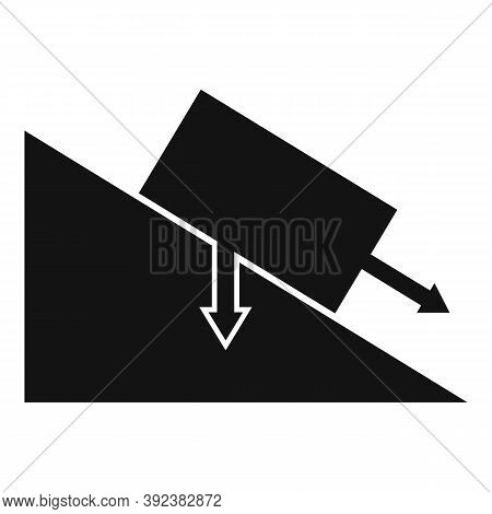 Science Angle Object Gravity Icon. Simple Illustration Of Science Angle Object Gravity Vector Icon F