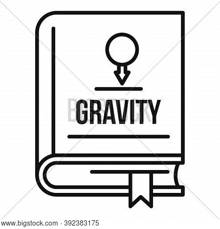 Gravity Book Icon. Outline Gravity Book Vector Icon For Web Design Isolated On White Background