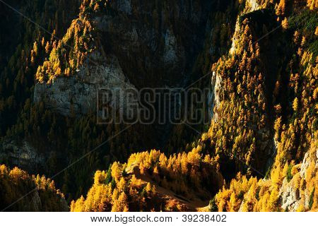 Autumn landscape in Bucegi Mountains, Romania