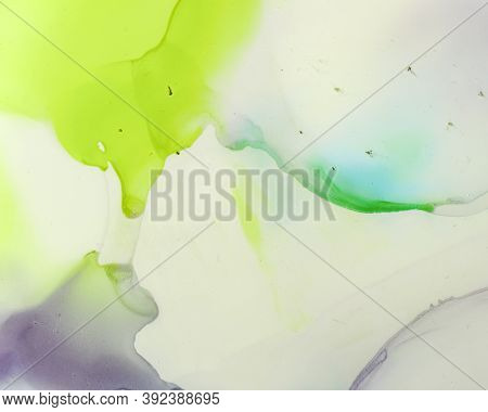 Ethereal Art Texture. Liquid Ink Wash Wallpaper. Lilac Modern Oil Splash. Alcohol Inks Color Design.