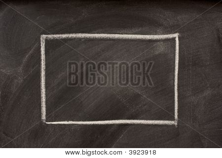 Blank Rectangle On A Blackboard