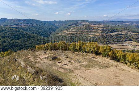 Iberian Town Of Castellvell De Olius, Lleida Catalonia Spain.