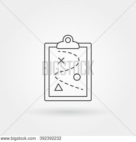 Business Roadmap Single Isolated Icon With Modern Line Or Outline Style