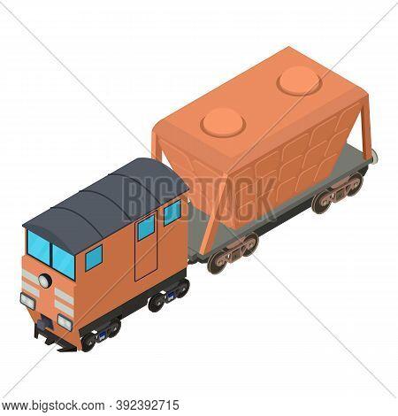 Hopper Car Icon. Isometric Illustration Of Hopper Car Vector Icon For Web