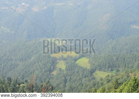 Rural Village Landscape Photo Of Nepal, Rural Road Track Of Nepal. This Is Dhading Nepal Road Track.