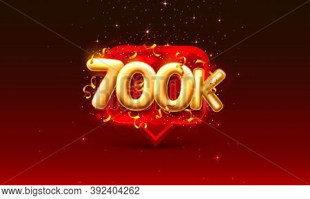 Thank You Followers Peoples, 700k Online Social Group, Happy Banner Celebrate, Vector