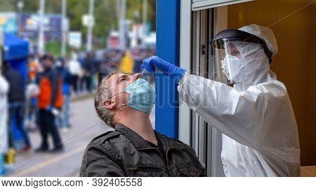 Bratislava, Slovakia - October 31: Massive National Coronavirus Testing