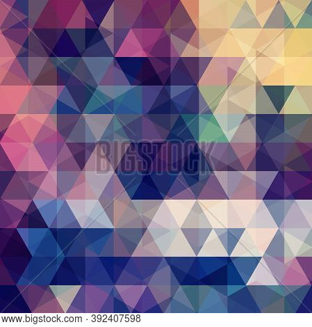 Triangle Vector Background. Can Be Used In Cover Design, Book Design, Website Background. Vector Ill