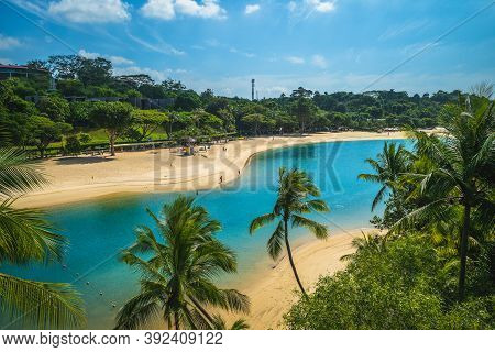 Scenery Of Pulau Palawan Beach At Sentosa, Singapore
