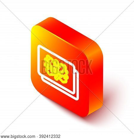 Isometric Line Rorschach Test Icon Isolated On White Background. Psycho Diagnostic Inkblot Test Rors
