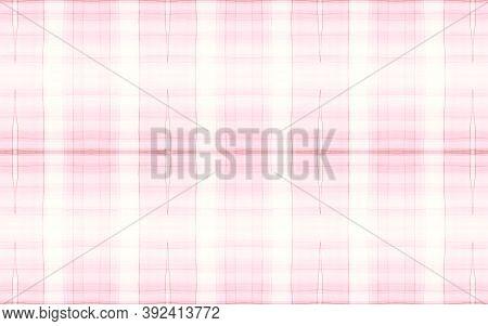 Pastel Pajama Pattern. Woven Seamless Check Texture. Watercolor Stripes For Kilt Design. Girly Elega
