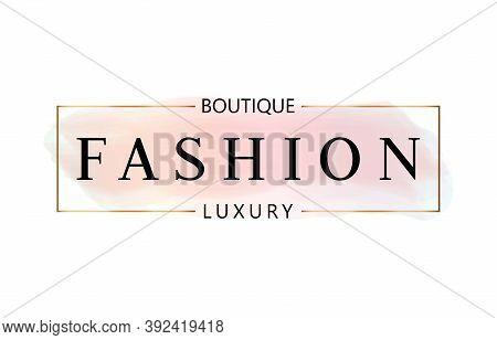 Feminine Fashion Boutique Logo Design Premium Vector