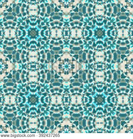 Seamless Camouflage Snake Design. Turquoise And Green Colors. Trendy Jungle Wallpaper. Alligator Lea