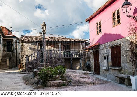 Traditional Stone Houses At The Well-preserved Village Of Combarro In Ponteveda, Spain, Famous For I