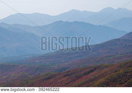 Photo Of Fall, Autumn Colors. Alpine Loop Scenic Drive, Ut, Usa.